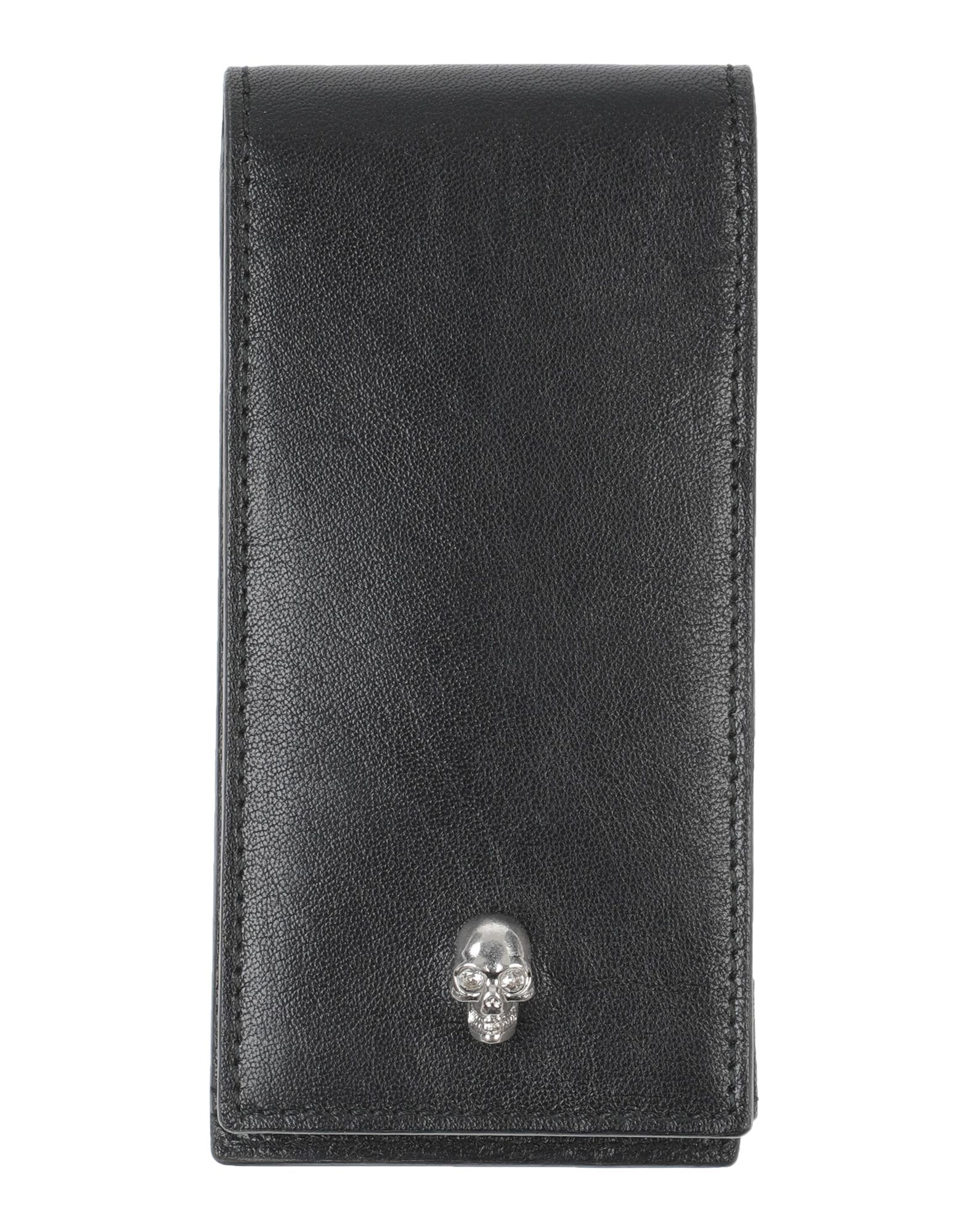 ALEXANDER MCQUEEN Covers & Cases. logo, solid color, iphone 4 cover, contains non-textile parts of animal origin. Soft Leather