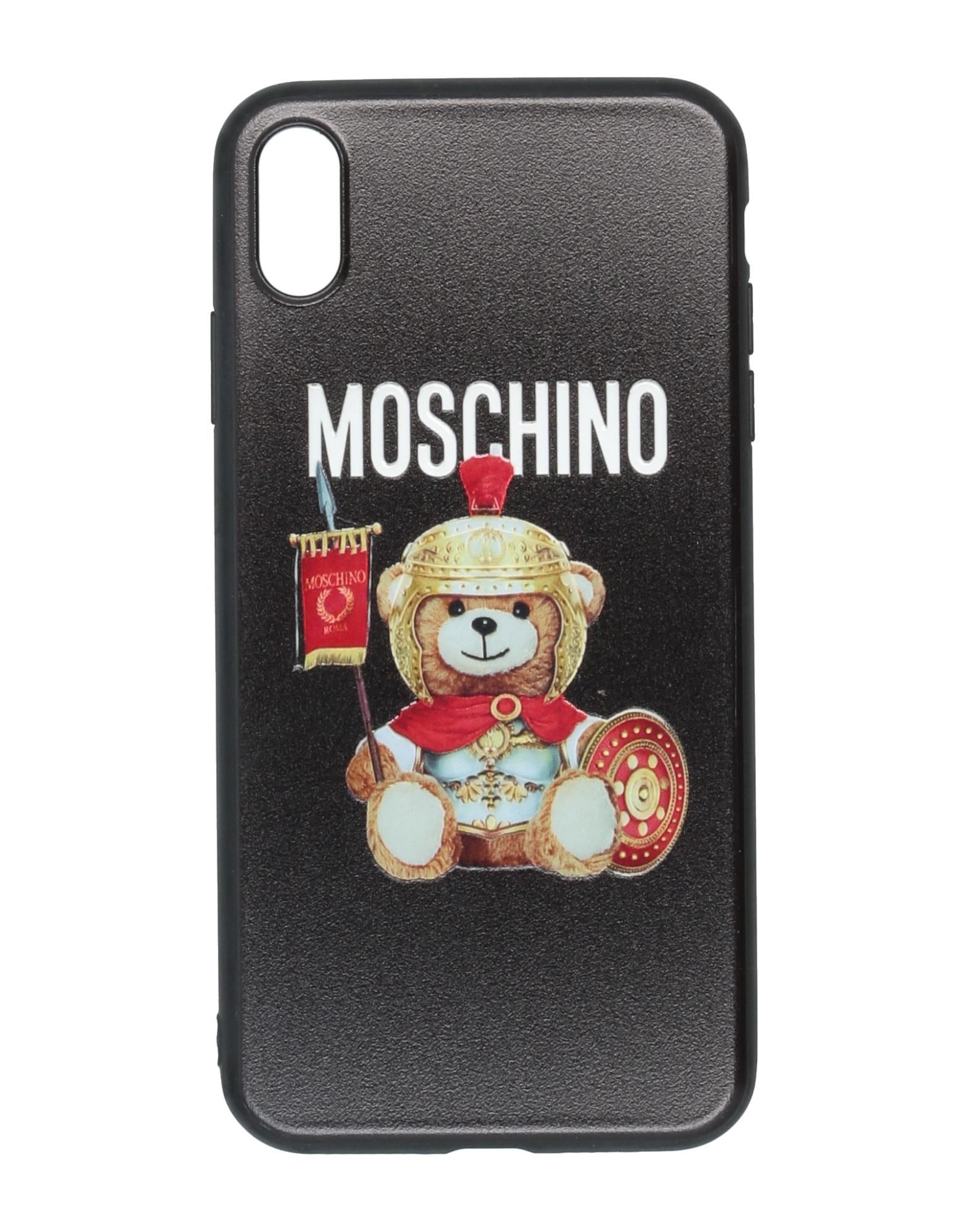 Фото - MOSCHINO Чехол защитное стекло krutoff для apple iphone xs max 3d black 20441