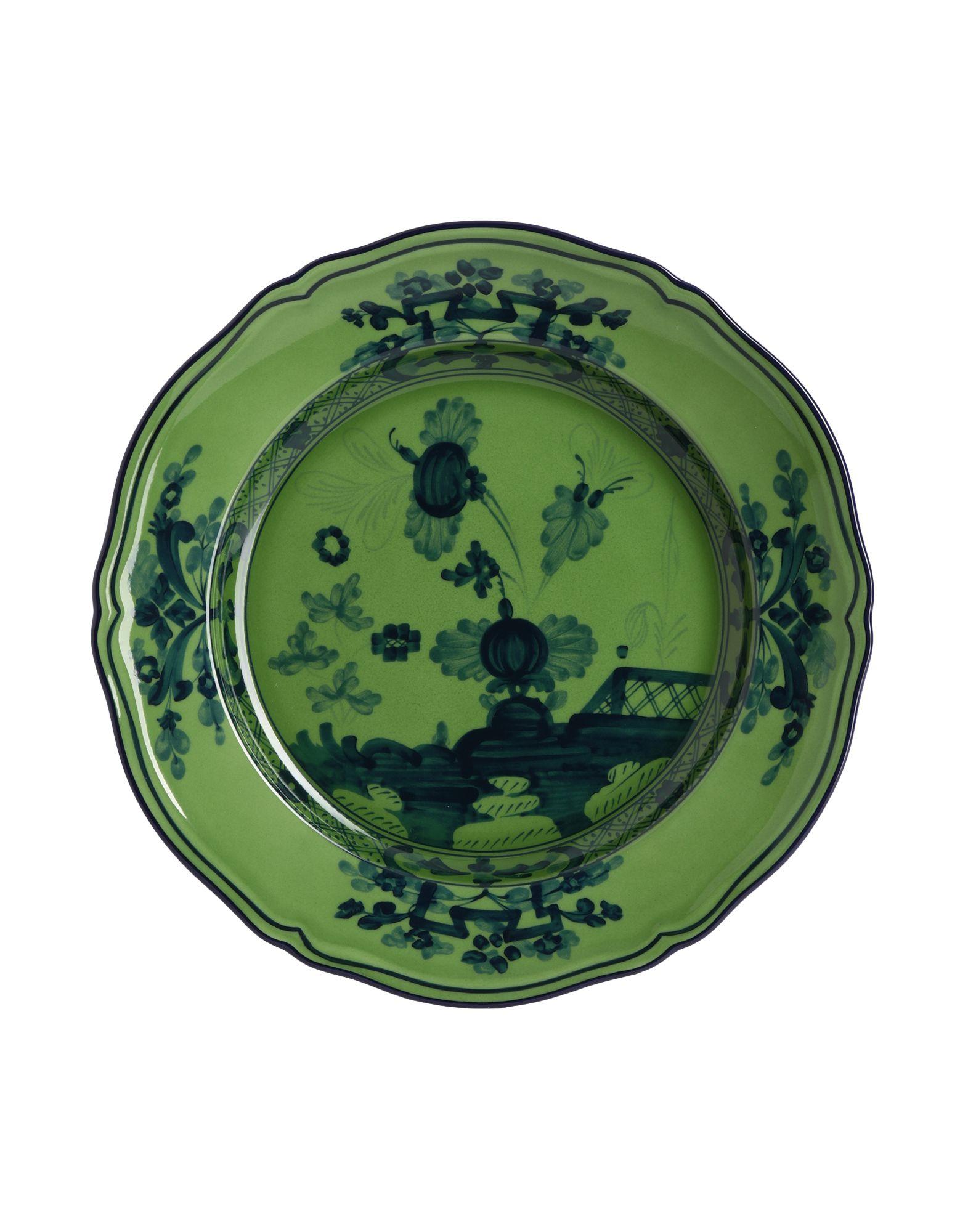 《セール開催中》RICHARD GINORI Unisex オーナメンタルプレート グリーン 陶製 Oriente Italiano