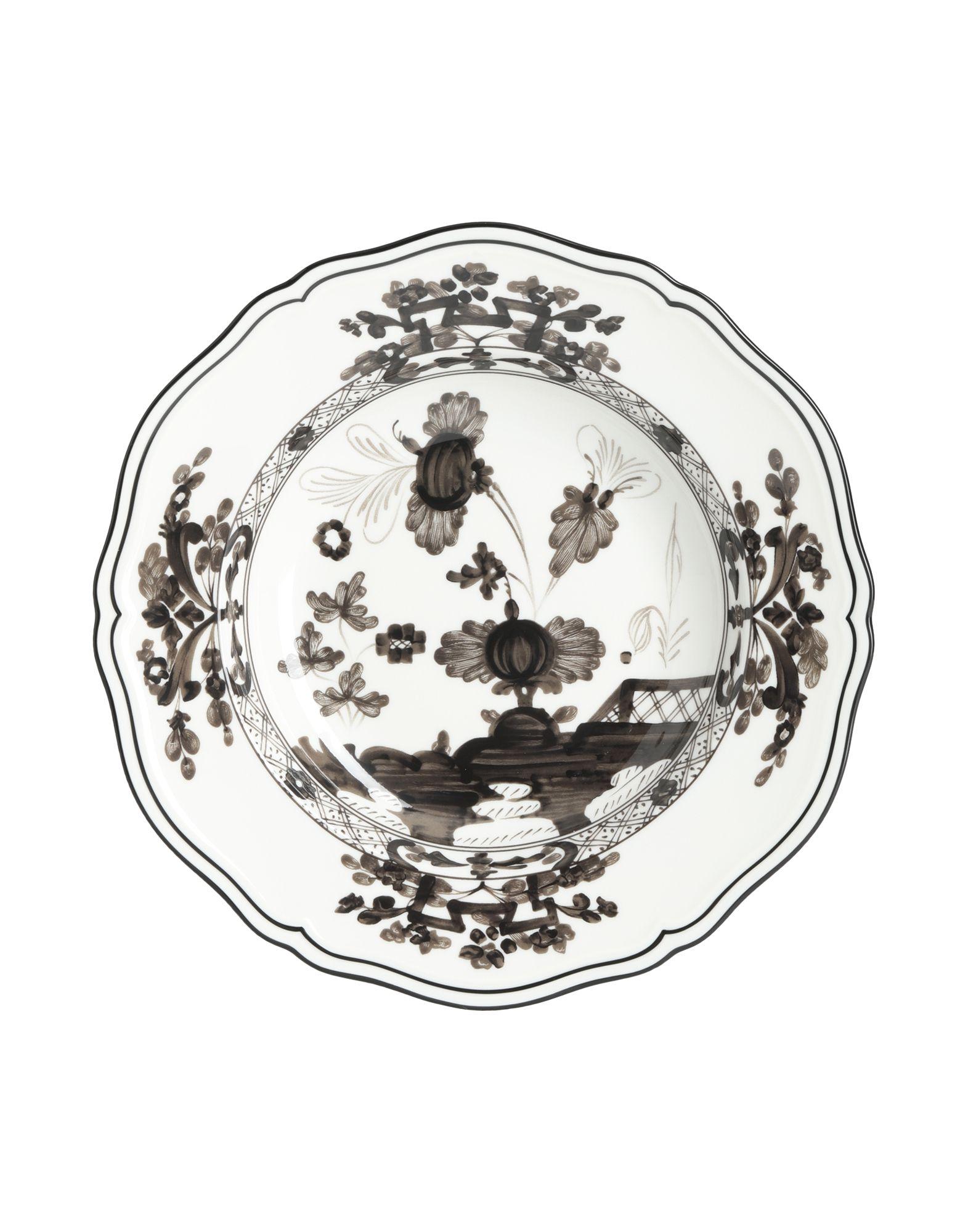 《セール開催中》RICHARD GINORI Unisex オーナメンタルプレート ダークブラウン 陶製