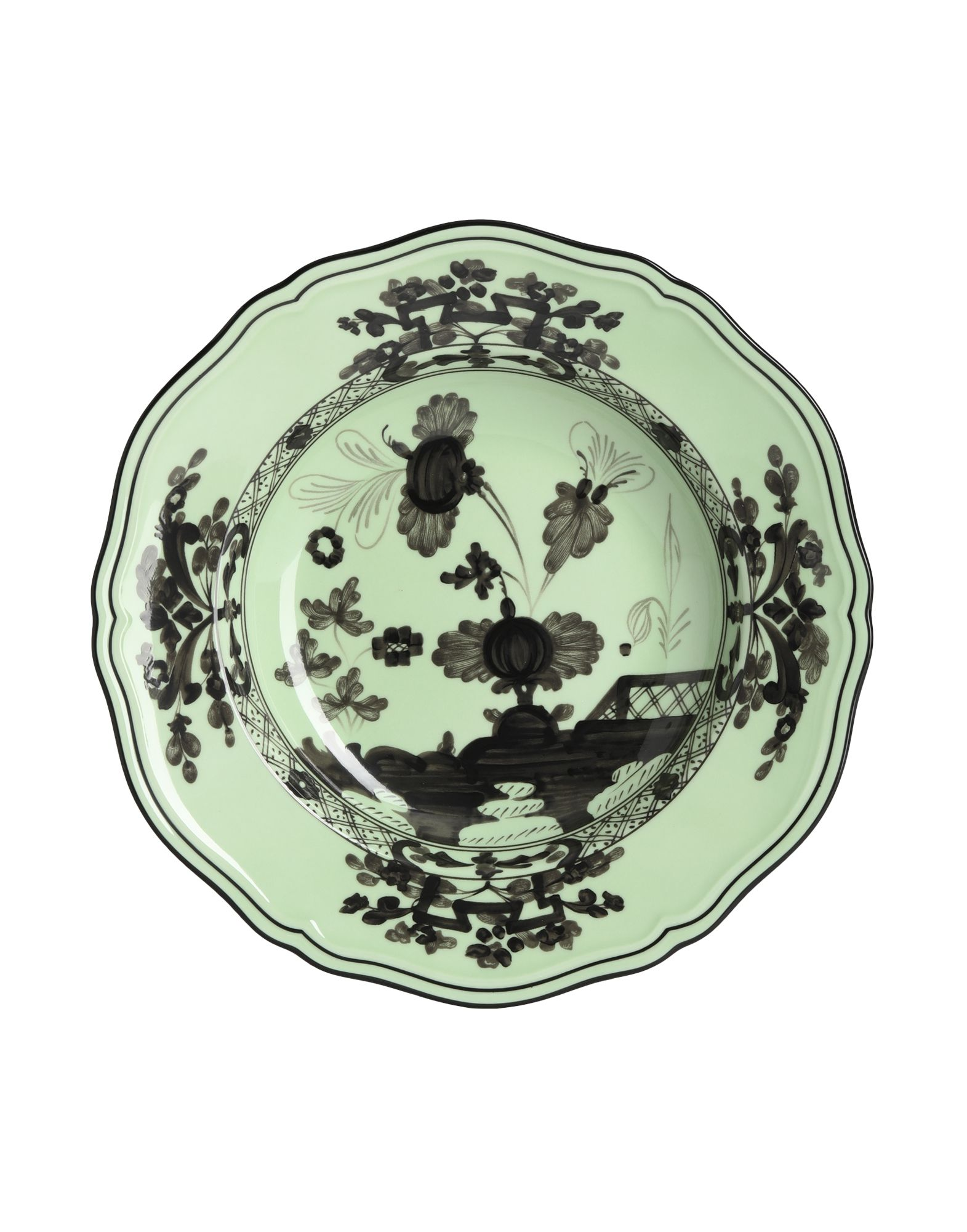 《セール開催中》RICHARD GINORI Unisex オーナメンタルプレート グリーン 陶製