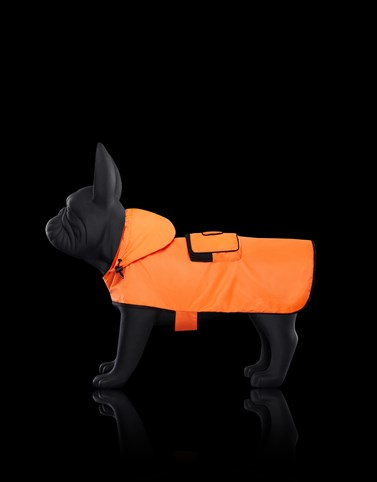 MONDOG CLOAK Florescent orange Moncler Poldo Dog Couture Genius Woman