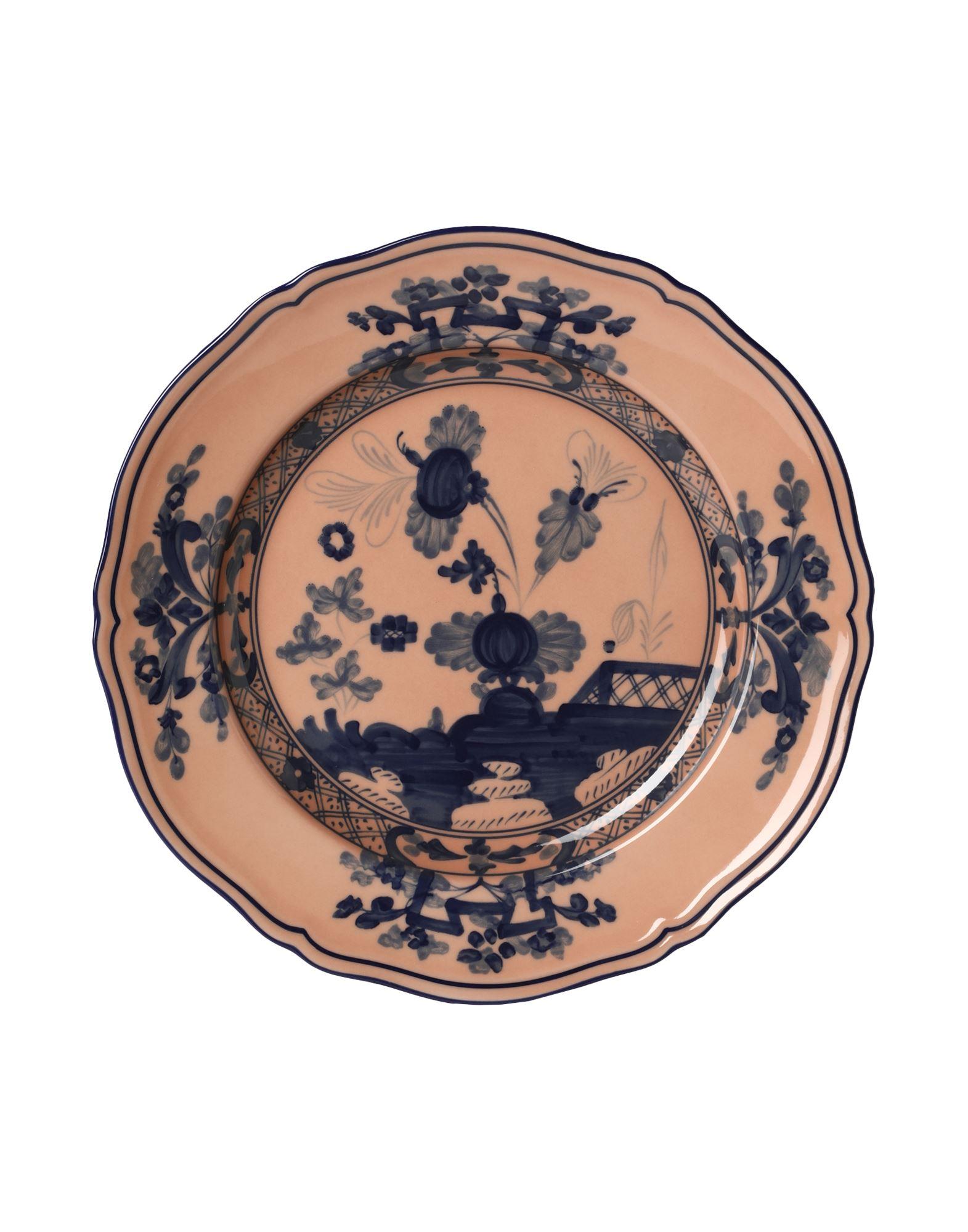 《セール開催中》RICHARD GINORI Unisex オーナメンタルプレート パステルピンク 陶製 ORIENTE ITALIANO dessert plate