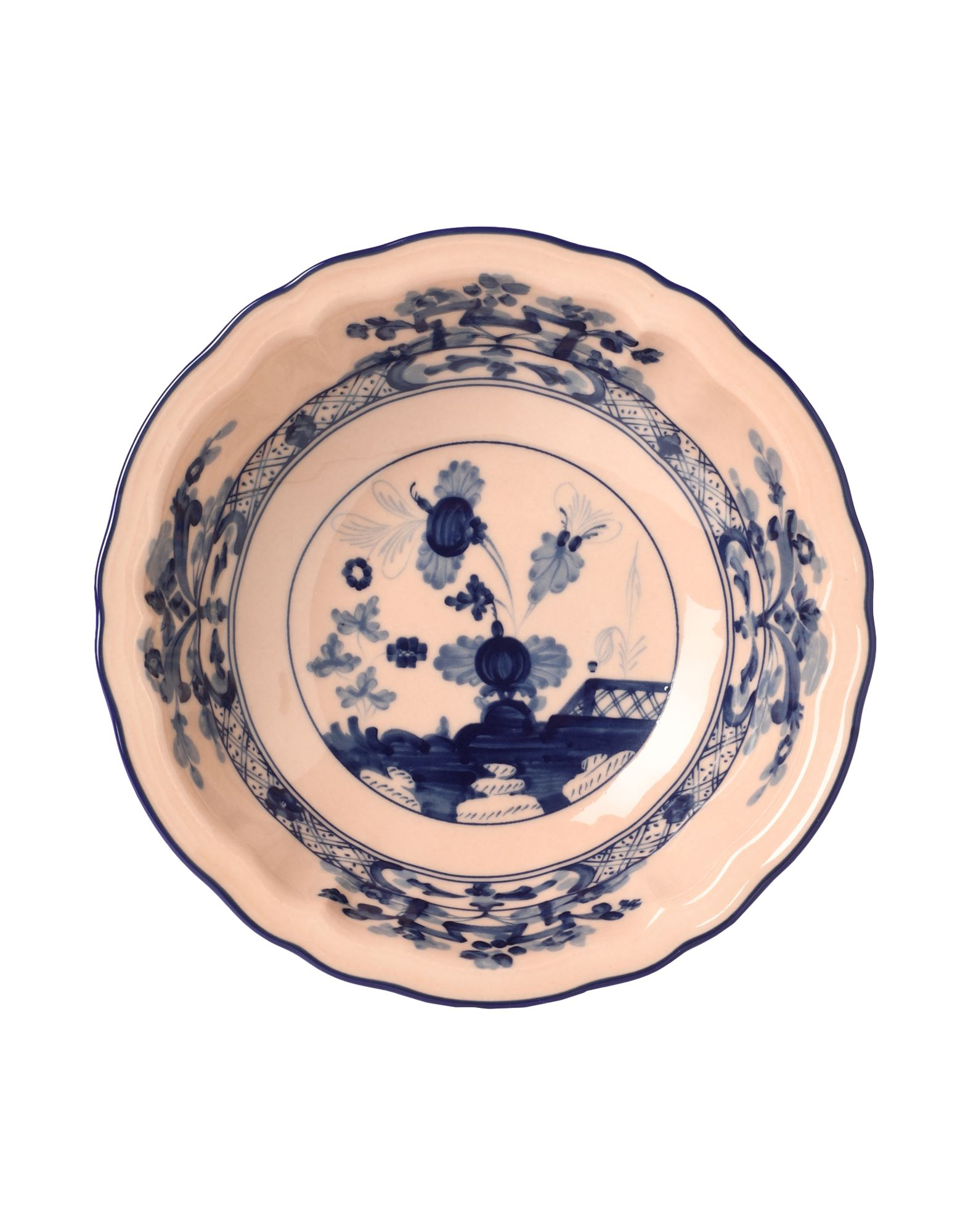 《セール開催中》RICHARD GINORI Unisex オーナメンタルプレート サーモンピンク 陶製 ORIENTE ITALIANO Fruit bowl