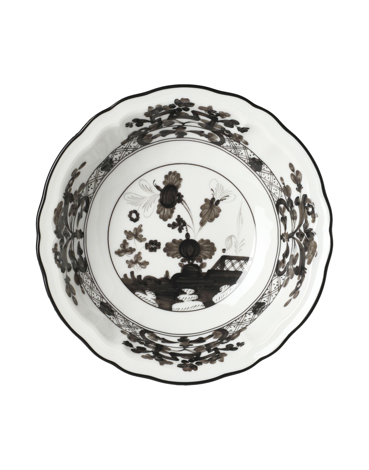 《セール開催中》RICHARD GINORI Unisex オーナメンタルプレート ホワイト 陶製 ORIENTE ITALIANO Fruit bowl
