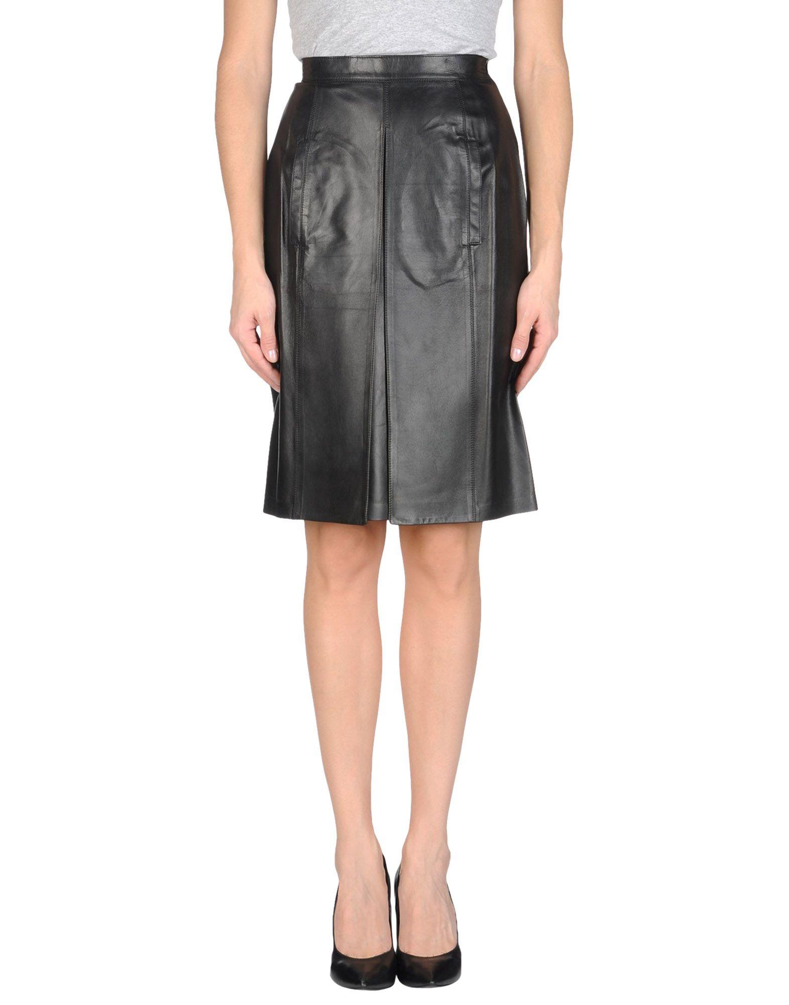 LAGERFELD Damen Lederrock Farbe Schwarz Größe 5