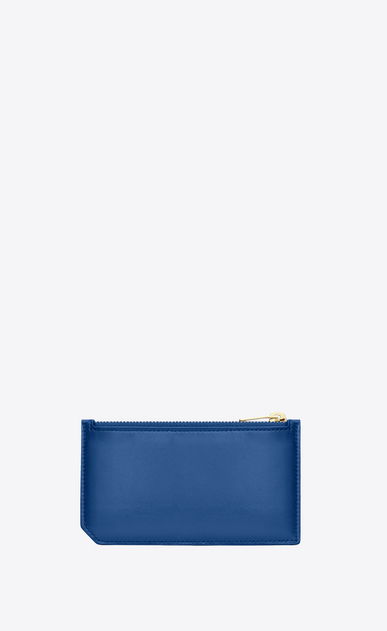 SAINT LAURENT Saint Laurent Paris SLG D pochette zippée 5 fragments saint laurent paris en cuir bleu roi b_V4
