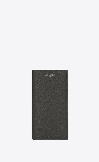 SAINT LAURENT Saint Laurent Paris SLG U classic saint laurent paris continental wallet in dark anthracite grain de poudre textured leather a_V4