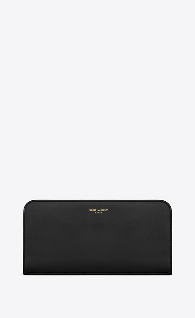SAINT LAURENT Saint Laurent Paris SLG D Classic Saint Laurent PARIS Zip Around Wallet In Black Leather a_V4
