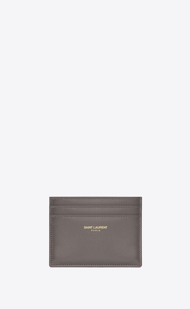 SAINT LAURENT Saint Laurent Paris SLG D Classic Saint Laurent Paris Credit Card Case in fog Leather a_V4