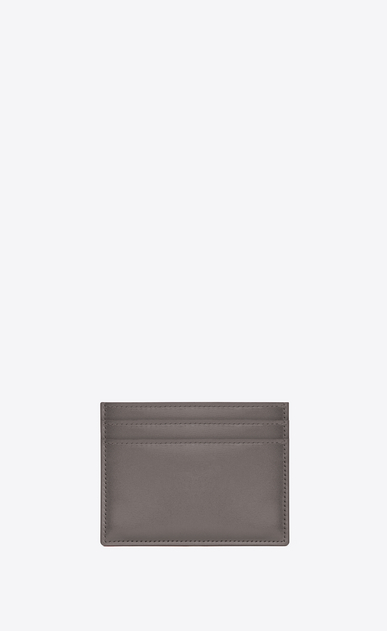SAINT LAURENT Saint Laurent Paris SLG D porte-cartes saint laurent paris en cuir gris clair b_V4