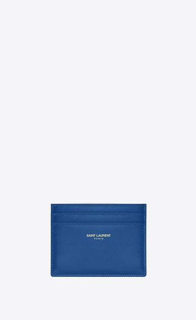 SAINT LAURENT Saint Laurent Paris SLG D CLASSIC SAINT LAURENT PARIS CREDIT CARD CASE IN Royal Blue LEATHER v4