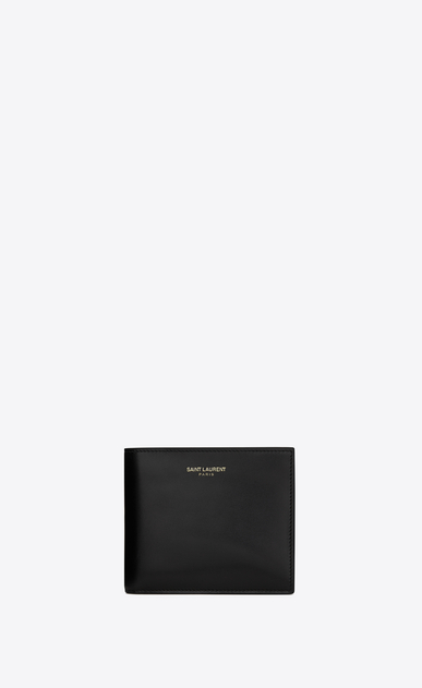 SAINT LAURENT Saint Laurent Paris SLG Man saint laurent paris east/west wallet in black leather a_V4