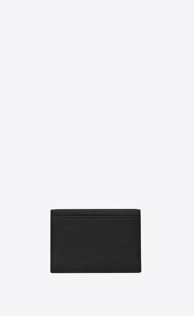 SAINT LAURENT Saint Laurent Paris SLG Woman saint laurent paris business card case in black grained leather b_V4