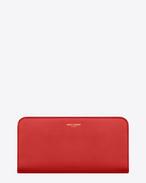 SAINT LAURENT Saint Laurent Paris SLG D portafogli con zip saint laurent paris classico rosso in pelle f