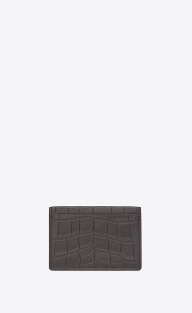 SAINT LAURENT Saint Laurent Paris SLG U classic saint laurent paris business card case in dark anthracite crocodile embossed leather b_V4