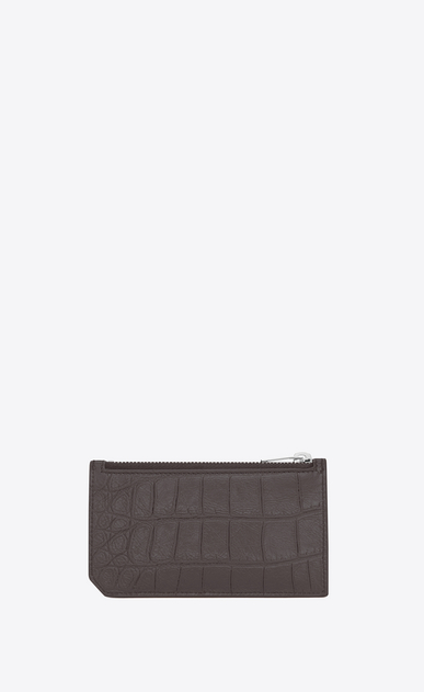 SAINT LAURENT Saint Laurent Paris SLG U classic saint laurent paris 5 fragments zip pouch in dark anthracite crocodile embossed leather b_V4