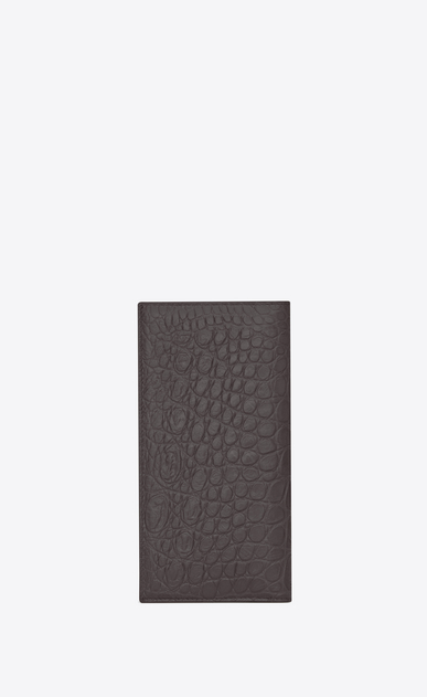 SAINT LAURENT Saint Laurent Paris SLG U classic saint laurent paris continental wallet in dark anthracite crocodile embossed leather b_V4