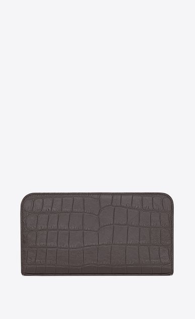 SAINT LAURENT Saint Laurent Paris SLG U classic saint laurent paris zip around wallet in drak anthracite crocodile embossed leather b_V4
