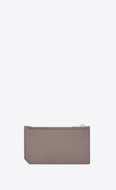SAINT LAURENT Saint Laurent Paris SLG Woman fragments zip pouch in fog leather b_V4