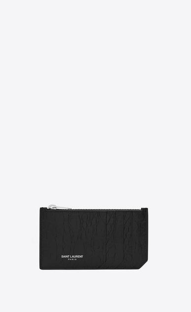 SAINT LAURENT Saint Laurent Paris SLG D classic saint laurent paris 5 fragments zip pouch in black crocodile embossed leather v4