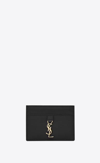 SAINT LAURENT YSL line D porta carte ysl nero in pelle a_V4