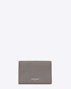 SAINT LAURENT Saint Laurent Paris SLG D classic saint laurent paris business card case in fog leather f