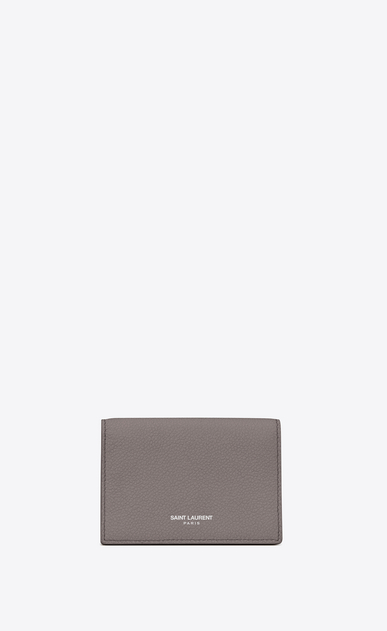 SAINT LAURENT Saint Laurent Paris SLG D classic saint laurent paris business card case in fog leather a_V4