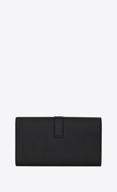 SAINT LAURENT YSL line Woman ysl large flap wallet in black leather b_V4