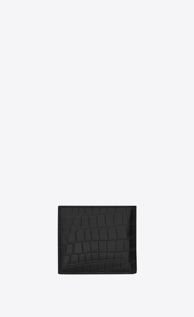 SAINT LAURENT Saint Laurent Paris SLG メンズ classic saint laurent paris east/west wallet with coin pouch in black crocodile embossed leather b_V4