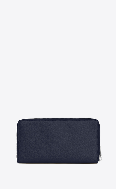 SAINT LAURENT Saint Laurent Paris SLG Man saint laurent paris zip around wallet in navy blue textured leather b_V4