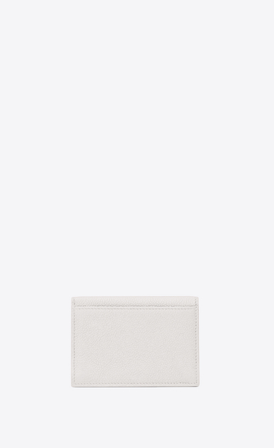 SAINT LAURENT Saint Laurent Paris SLG Woman saint laurent paris business card case in dove white leather b_V4
