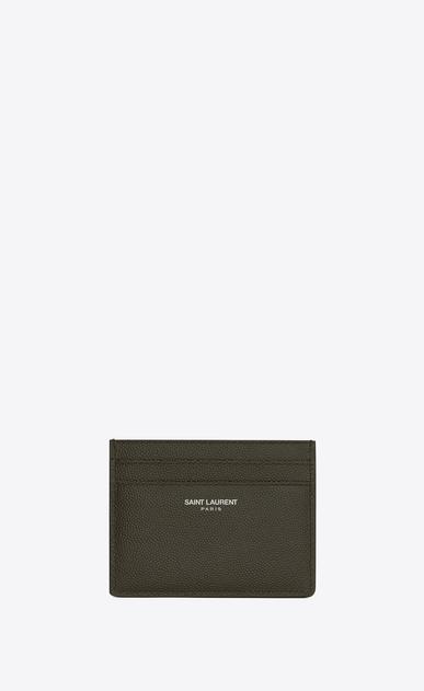 SAINT LAURENT Saint Laurent Paris SLG Man card case in grain de poudre embossed leather a_V4