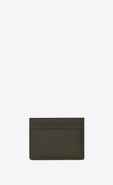 SAINT LAURENT Saint Laurent Paris SLG Man card case in grain de poudre embossed leather b_V4