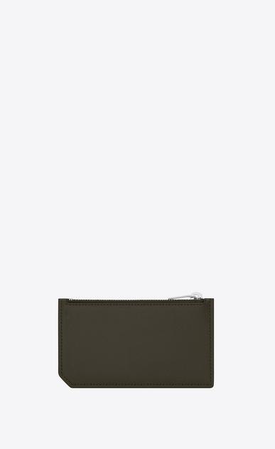 SAINT LAURENT Saint Laurent Paris SLG Man fragment zipped card case in grain de poudre embossed leather b_V4