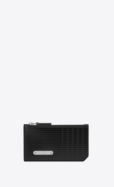 SAINT LAURENT ID SLG Man id fragments zip pouch in black leather  a_V4