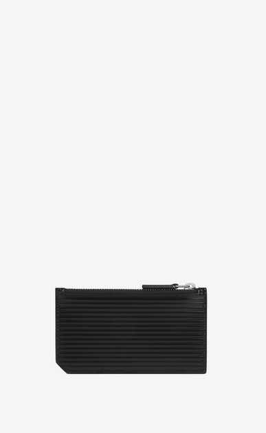 SAINT LAURENT ID SLG Man id fragments zip pouch in black leather  b_V4
