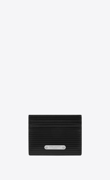 SAINT LAURENT ID SLG Man id credit card case in black leather  a_V4