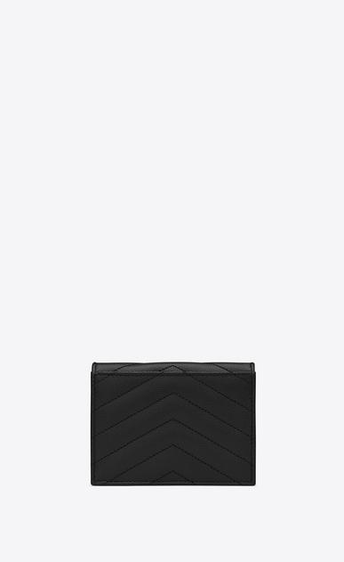 SAINT LAURENT Monogram SLG Woman monogram Card case in grain de poudre embossed leather b_V4