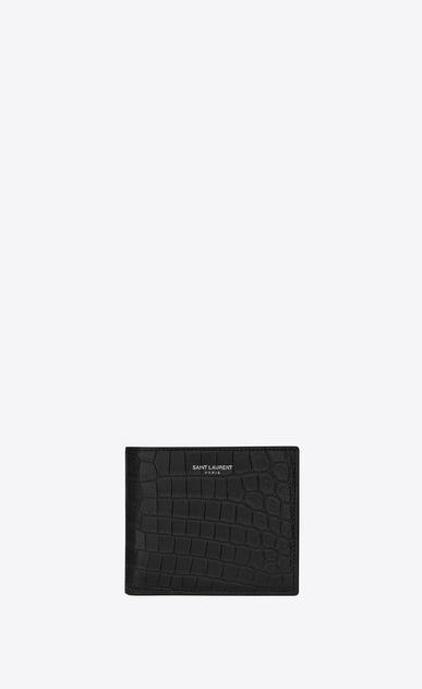east/west wallet in crocodile embossed leather