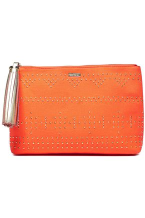 MELISSA ODABASH Tasselled studded canvas pouch