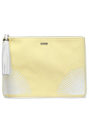 MELISSA ODABASH Tasselled embroidered canvas pouch