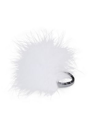 ROSANTICA Feather-embellished hair tie