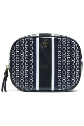 TORY BURCH Printed coated canvas cosmetic bag