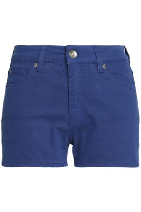 LOVE MOSCHINO Appliquéd denim shorts