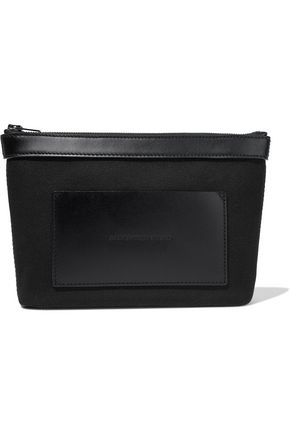 ALEXANDER WANG Leather-paneled canvas pouch