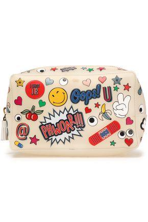 ANYA HINDMARCH Appliquéd rubber cosmetic bag