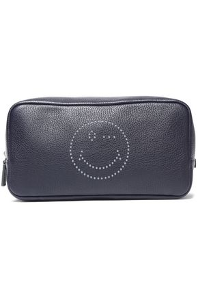 ANYA HINDMARCH Perforated textured-leather cosmetics case