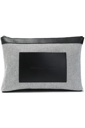 ALEXANDER WANG Leather-paneled canvas cosmetic case