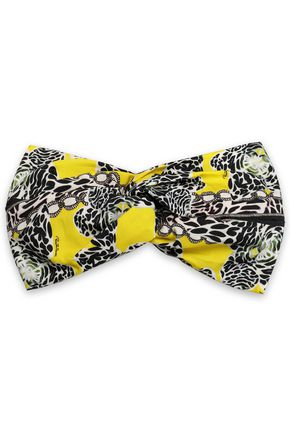 ROBERTO CAVALLI Twisted printed cotton headband